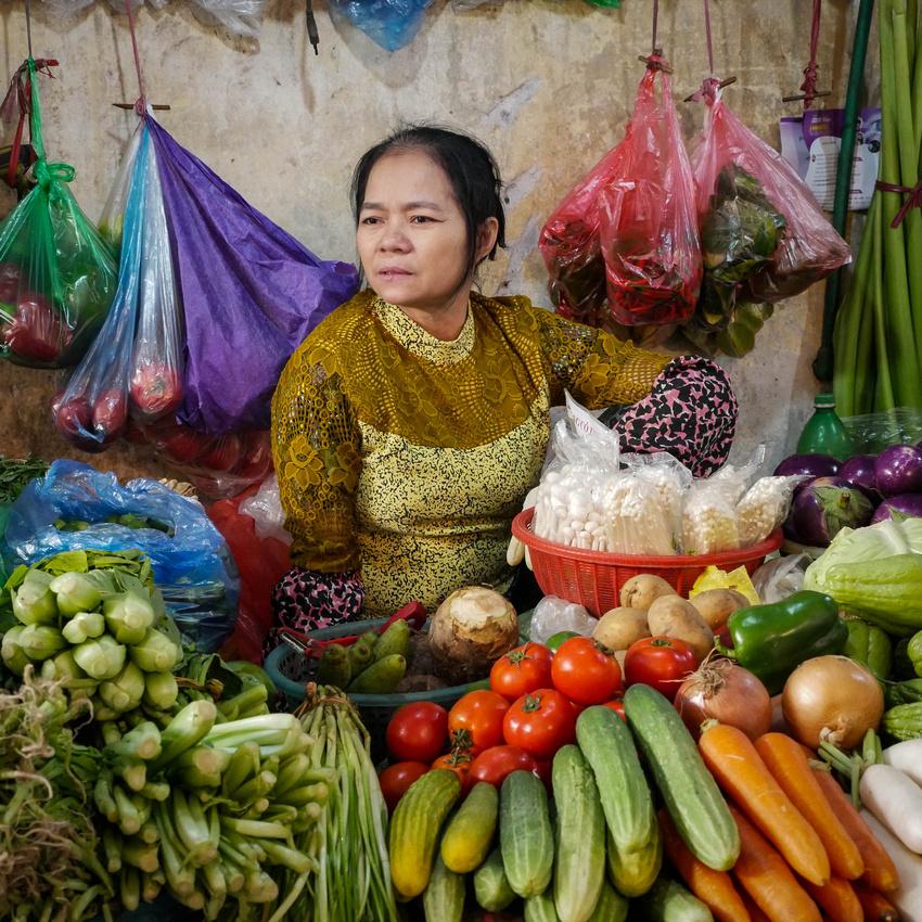 Produce Market Lady