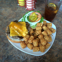Lunch stop for a burger and some (epic) tots